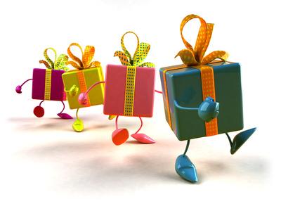 Cadeaux en marche