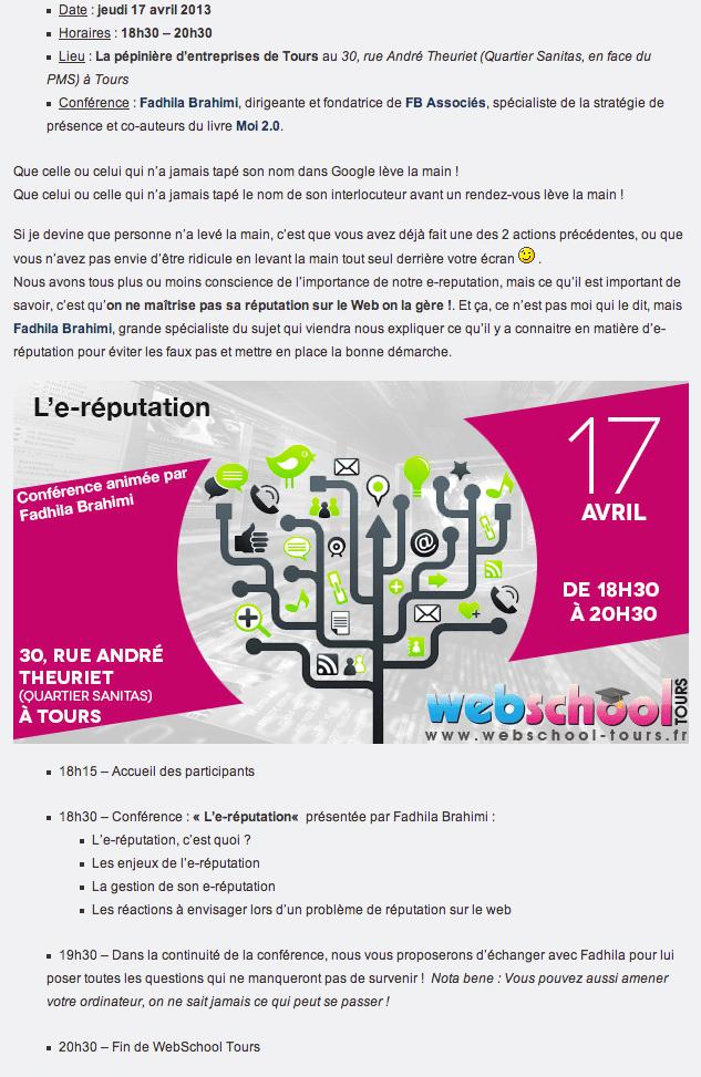 Conference-ereputation-webschool-fadhila-brahimi_programme