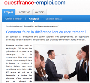 Fadhila_Brahimi_Personal_Branding_Ouest_France_Recrutement_Difference_Place